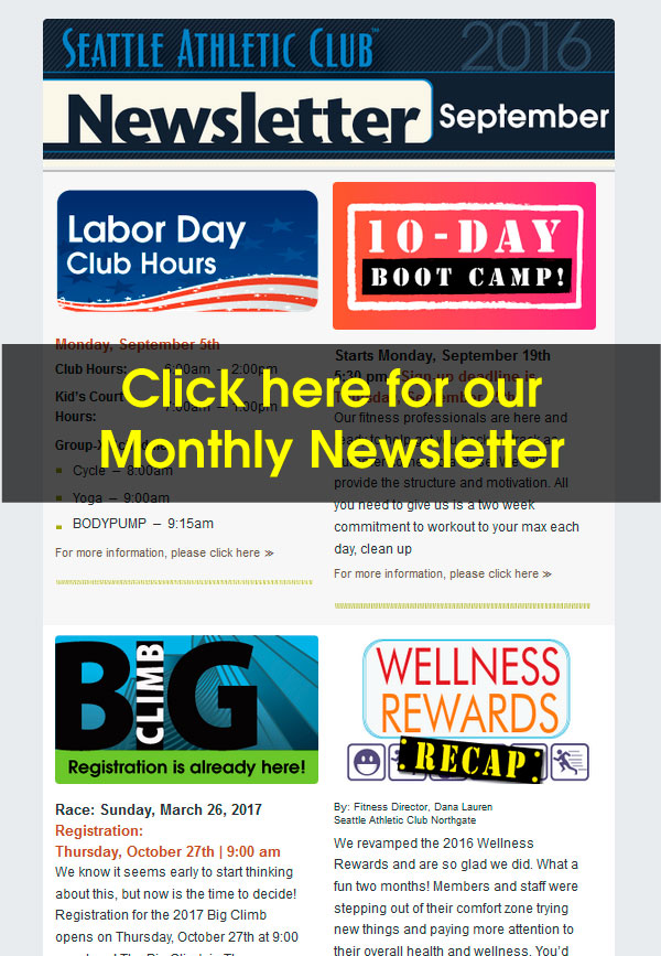 Seattle Athletic Club Northgate - September 2016 Newsletter