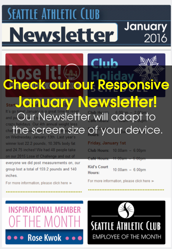Seattle Athletic Club Northgate - January 2016 Newsletter