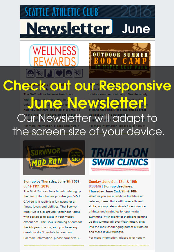 Seattle Athletic Club Northgate - June 2016 Newsletter